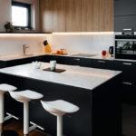 Virtuves virsma un sala