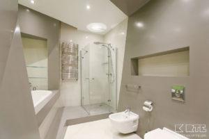 Vannas istabas sienu apšuvums un dušas paliknis