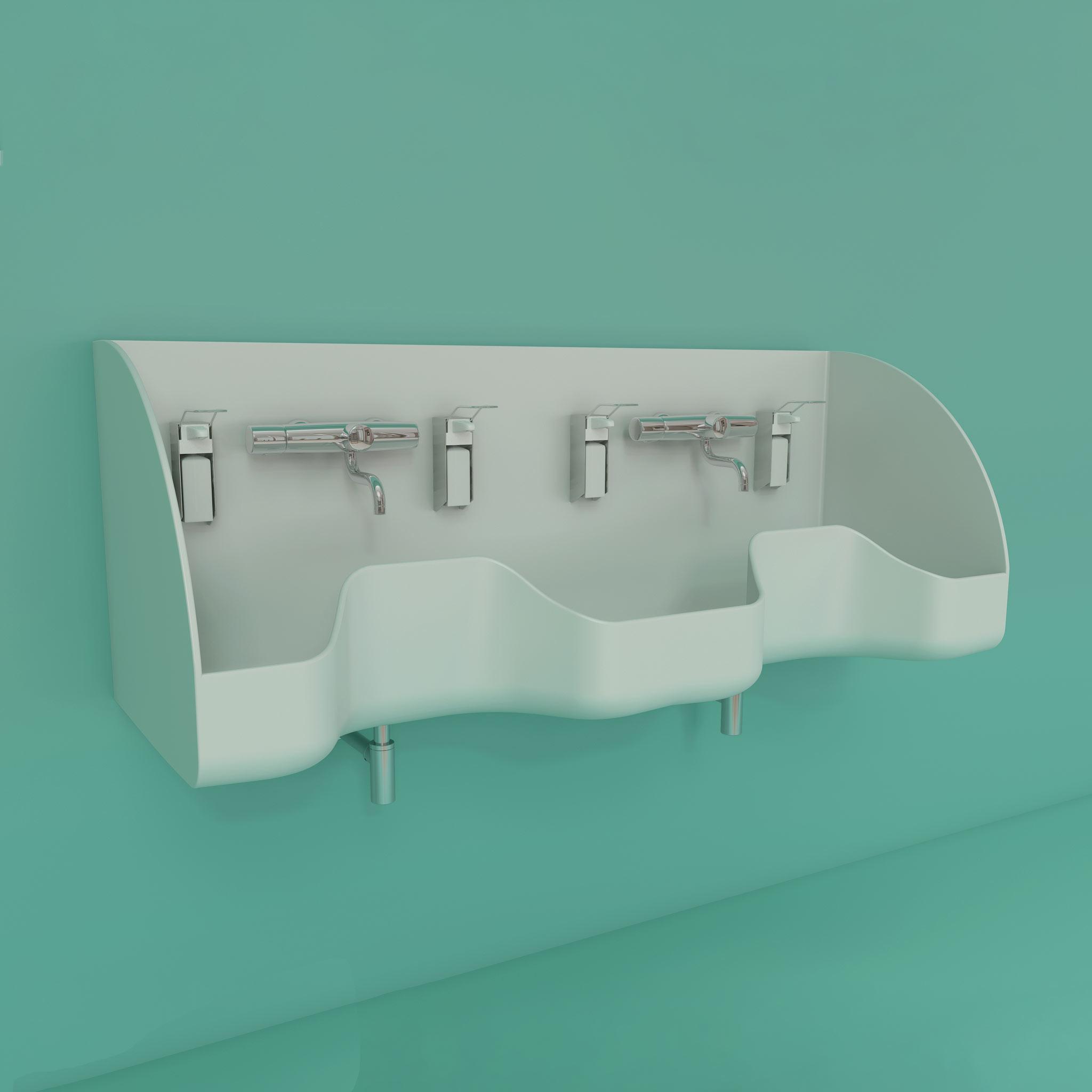WDO series Medical double scrub sink