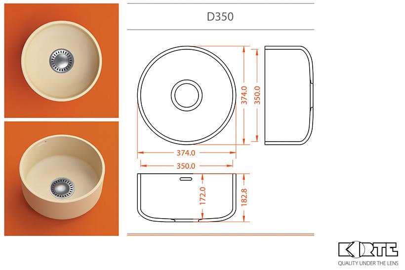 D 350