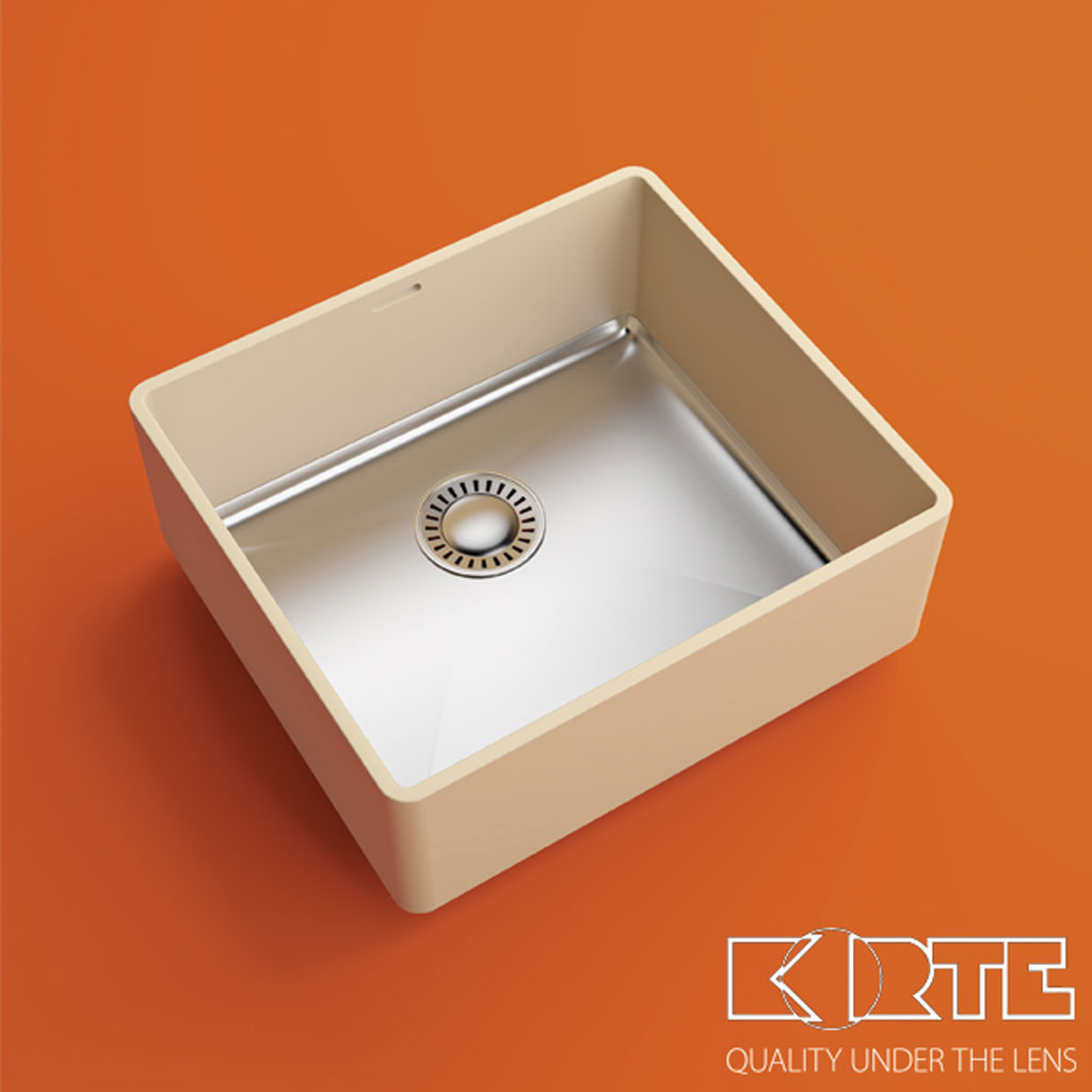 COMBO series kitchen sinks with metal bottom