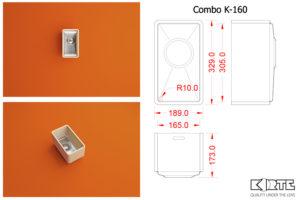 Virtuves izlietne COMBO K-160
