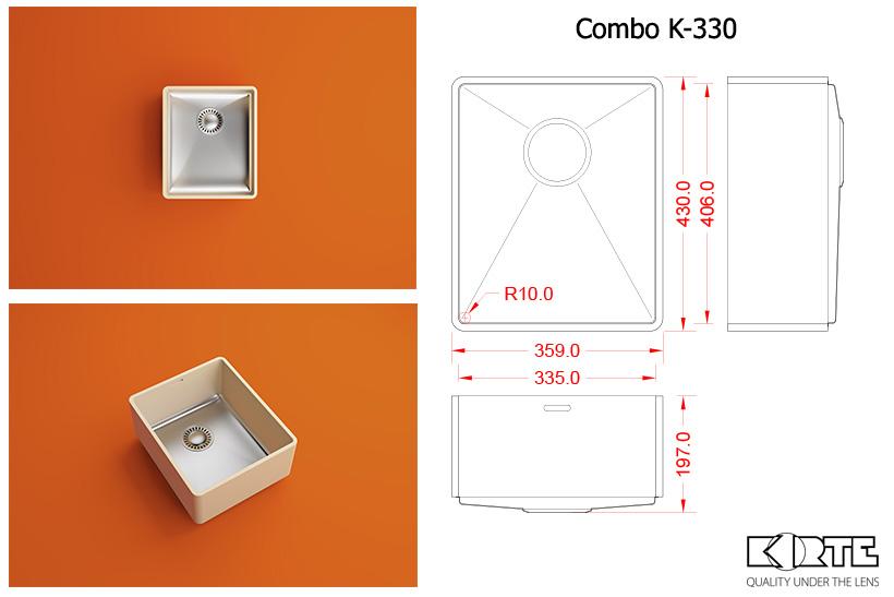 Virtuves izlietne COMBO K-330
