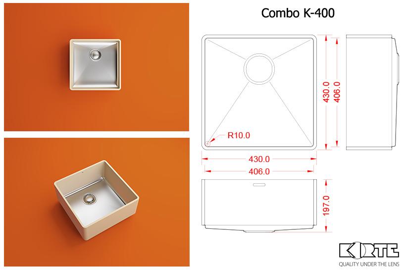 Virtuves izlietne COMBO K-400