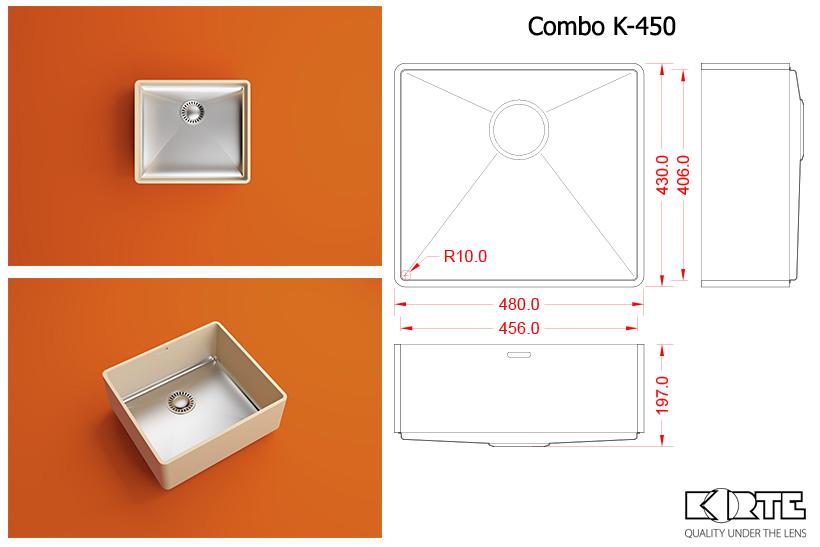 Virtuves izlietne COMBO K-450